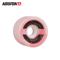 KOSTON Pro Longboard Wheels 4Pcs/Set High Quality Carving Skateboard Wheels PU 70mm*51mm 75A 80% Rebound Longboard Dancing WH157