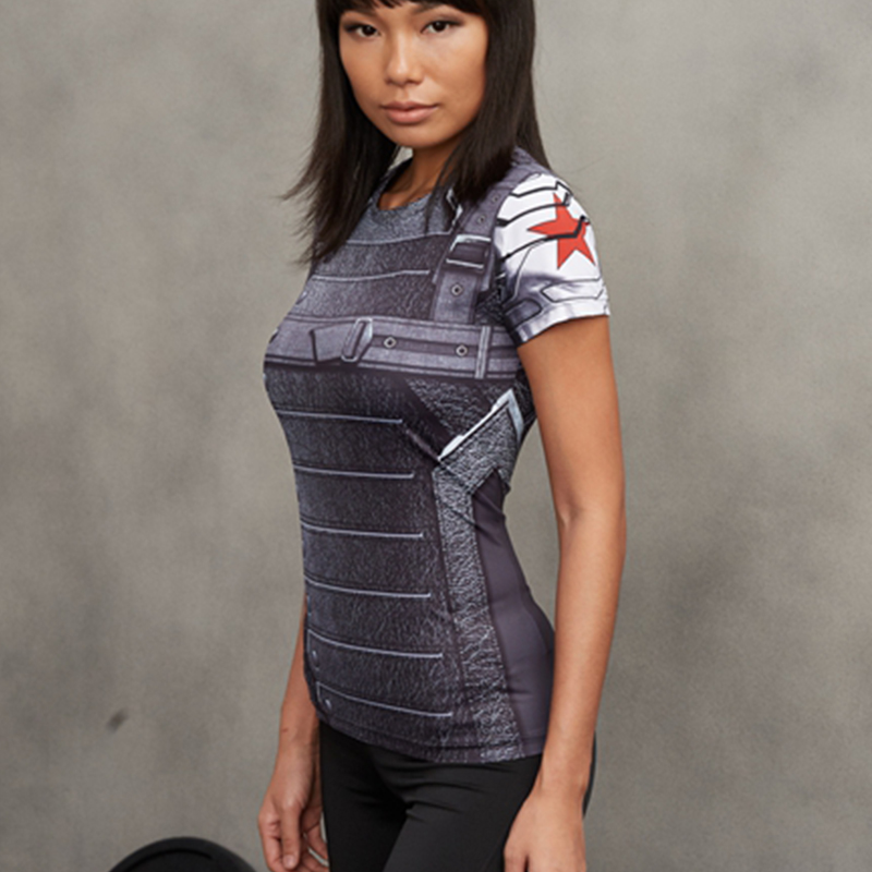 Winter Soldier 3d Printed T Shirts Women Captain America