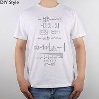 Render wiskundige formules math t-shirt Top Puur Katoen Mannen T-shirt