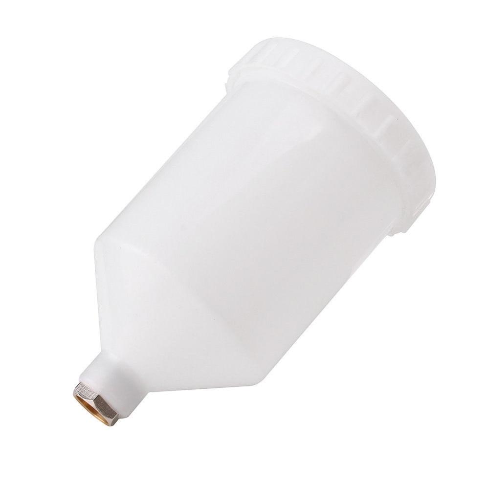 600ml Plastic Spray Paint Pot Sprayer Cup Air Gravity Feed Fastmover Thread Connector For Spray Gun Tools