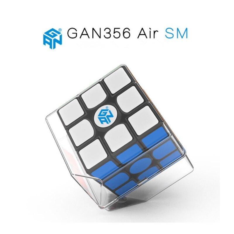 Gan 365 Air SM 3x3x3 Cube de vitesse couleur noire GAN AIR SM magnétique 3x3x3 Puzzle Speed Cube jouets éducatifs d'apprentissage pour les enfants
