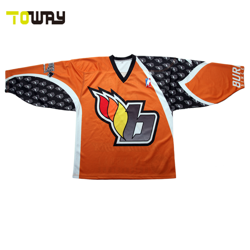 8d354b1cd8d Sublimation ice hockey jersey custom style hockey shirts-in Hockey ...