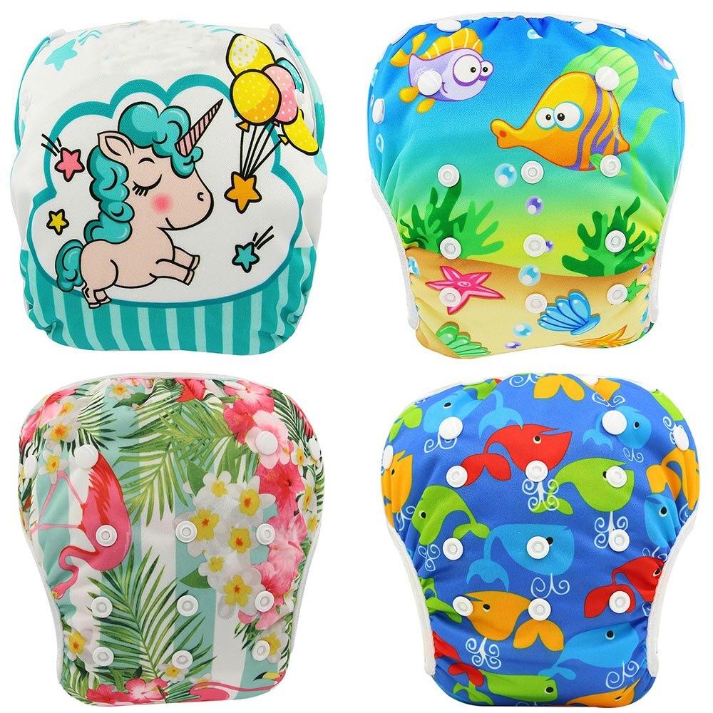 Ohbabyka bebé nadar pañal impermeable ajustable pañales de tela de la piscina de natación cubierta de pañal lavable reutilizable pañales