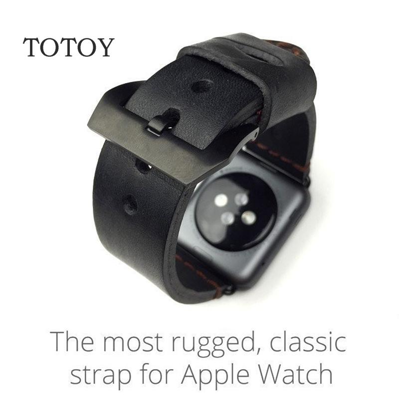 Prix pour TOTOY 38 MM 42 MM Apple Bracelet, Conception Spéciale En Cuir Bracelets, Pour Apple Iwatch Montre Bracelets, Livraison Shiping