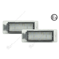 2Pair Super White 6000K Canbus No Error Car LED License Plate Light Auto Lamp Number