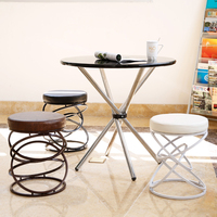 The Creative Metal Iron Wire Fashion Bar Stool Chair Stool Simple Leisure Chair