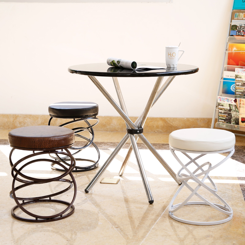The creative metal iron wire fashion bar stool chair stool simple leisure chair the bar chair hairdressing pulley stool swivel chair master chair technician chair