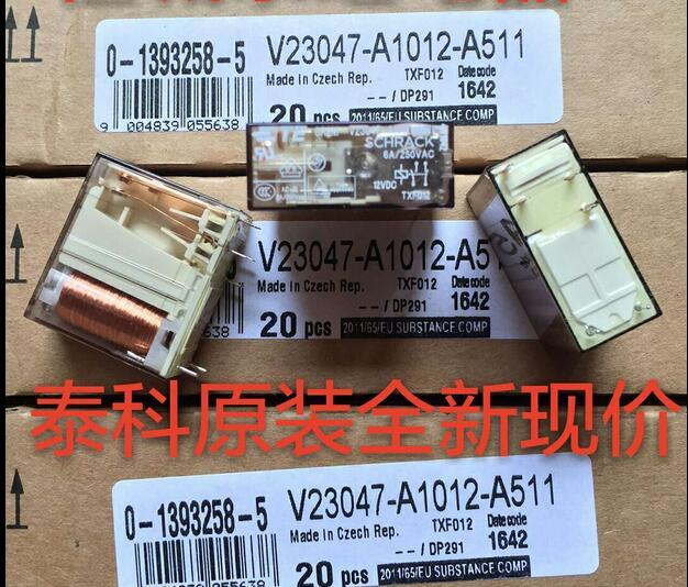 цена на NEW relay V23047-A1012-A511 12VDC V23047-A1012-A511-12VDC 12VDC DC12V DIP6