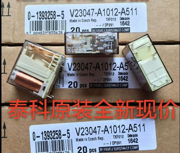 NEW relay V23047-A1012-A511 12VDC V23047-A1012-A511-12VDC 12VDC DC12V DIP6 hot new relay g8qe 1a 12vdc g8qe 1a 12vdc g8qe1a 12vdc dc12v 12v dip6 5pcs lot