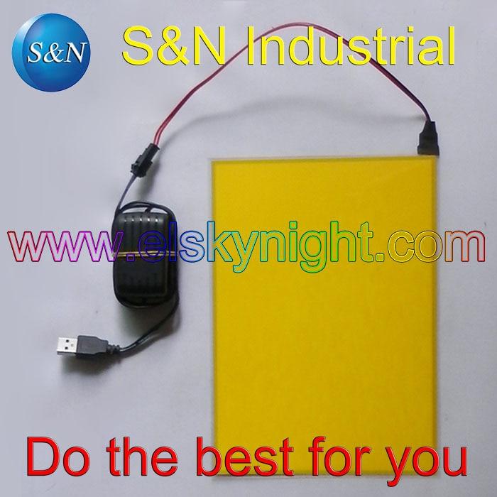 A5 Size Lemon El Sheet El Panel El Back Light With 5V USB Controller Steady On For Advertising Or Decoration Free Shipping