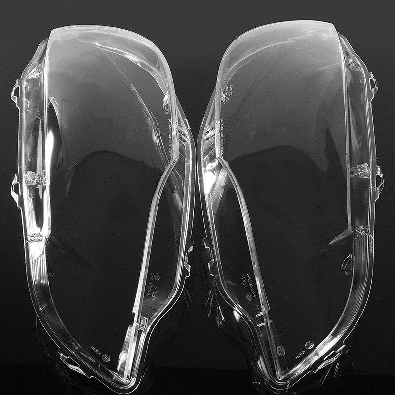 1 paire Gauche et Droite Transparent Logement Phare Lentille Shell Couvercle De La Lampe Couverture Assemblée pour 2008-2013 BMW x5 E70