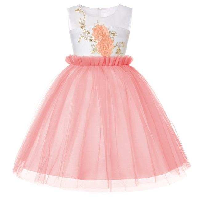 Kids Dresses For Girls Tutu Birthday Princess Party Dress Princess Flower Girl Dresses For Age 2 3 4 5 6 7 8 9 10 12 14 15 Years