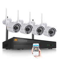 4CH 720P Wireless NVR Outdoor Network Security CCTV IP Camera System Camara Wifi Video Surveillance Kits