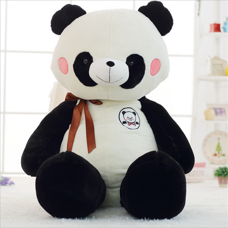 90cm Panda Plush Toy Black and White Giant Panda Toys Plush Bear Toy for Children Stuffed Toys for Baby Juguetes Brinquedos 300cm giant smile panda america big panda bear stuffed plush kids panda king bear toys bear doll plush toy for valentine s gift