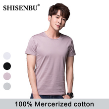 100% Mercerized Cotton underwear men O Neck Solid color men clothes close-fitting short sleeve Relax breathable mens undershirt