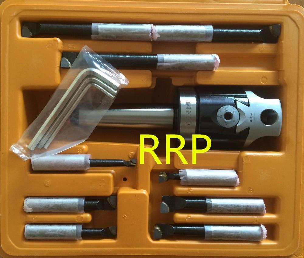 Cónico MT2, F1-12 cabeza de mandrinado de 50mm con vástago MT2 y barras de mandrinado de 9 Uds 12mm, la mejor calidad