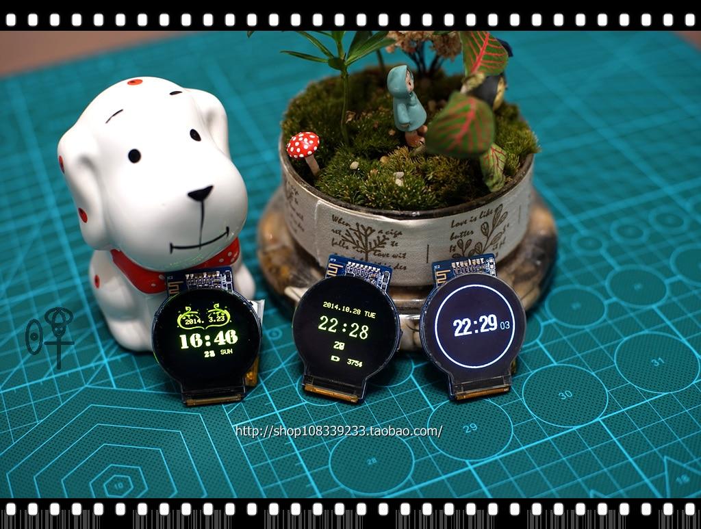 New OLED round screen, smart watch, Bluetooth watch, STM32 development board, new gyroscope smart baby watch каркам q50 oled голубые