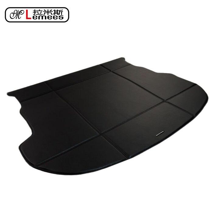 leather PU 3D stereoscopic wateproof non slip car trunk mats for Mazda CX-5 23568 CX7 M6 in high classPU leather for suzuki grand vitara brand pu leather wear resisting car floor mats black grey brown non slip waterproof 3d car floor carpets