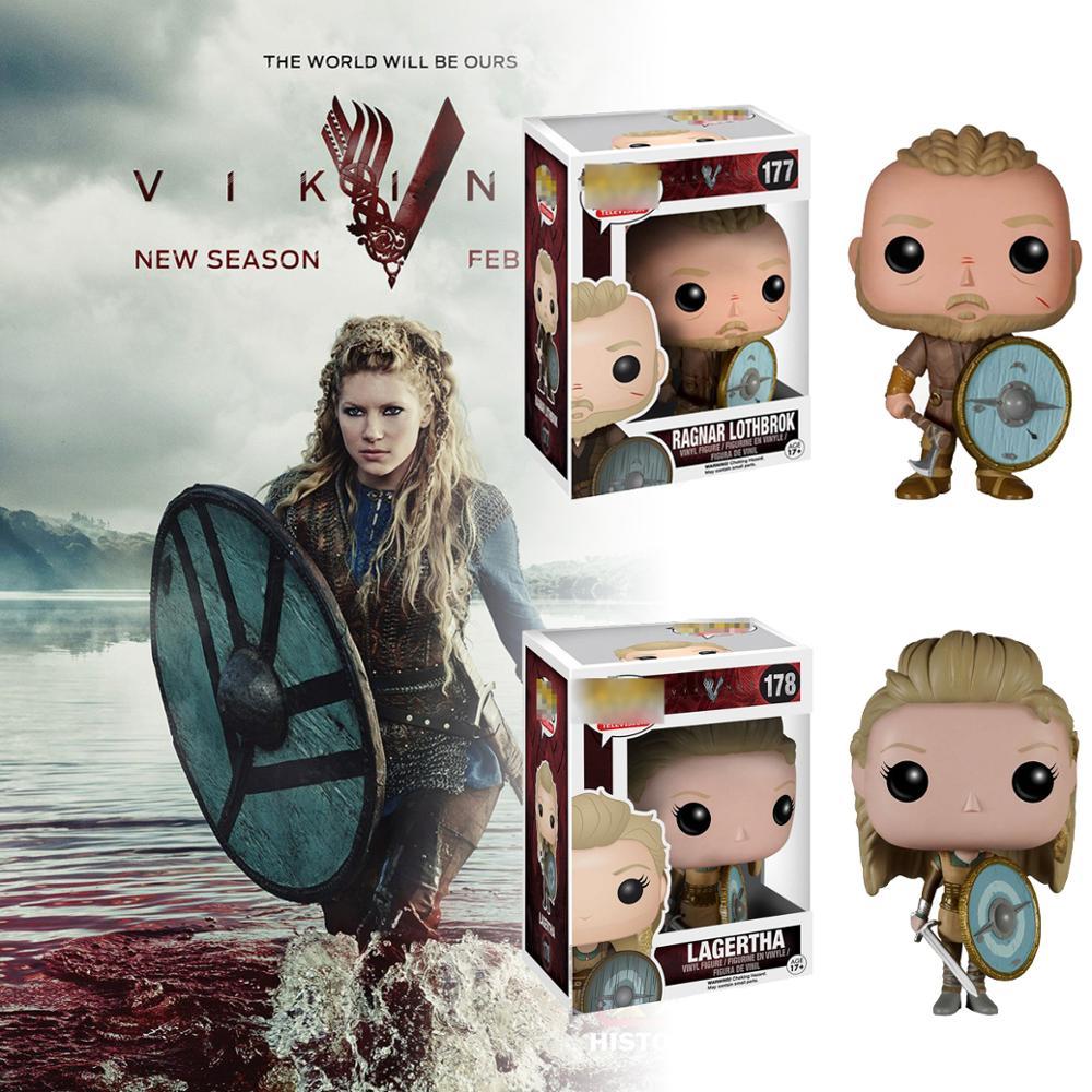 Figurine de Vikings d'action Ragnar Lothbrok et Lagertha modèle de fonction de personnage 177 & 178 # Figurine à collectionner jouets Vikings jouets