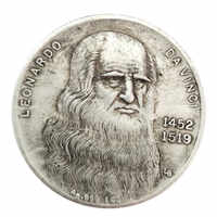 1452-1519 Da Vinci Moneta Artigianato Moneta D'argento Raccolta Commemorativa
