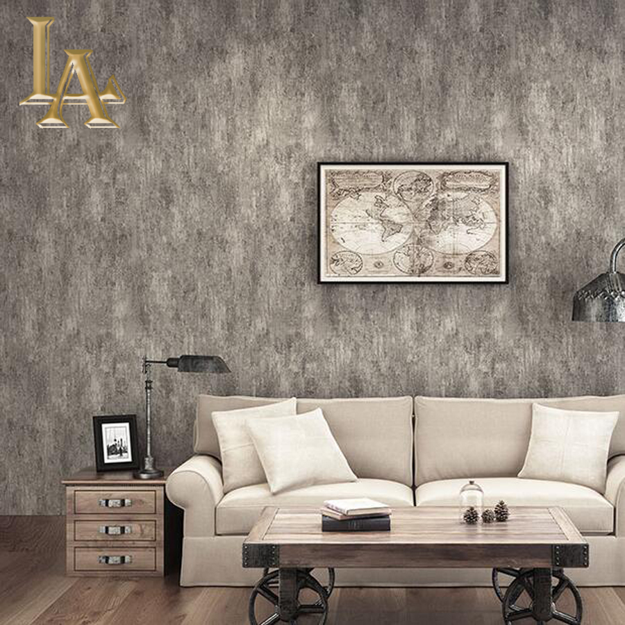 Buy Vintage Country Solid Color Textured Wallpaper For Walls Living Room