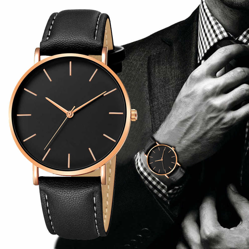 Geneva moda hombres fecha aleación Funda de cuero sintético analógico cuarzo deporte reloj geneva mujeres reloj oro mecanismo parnis
