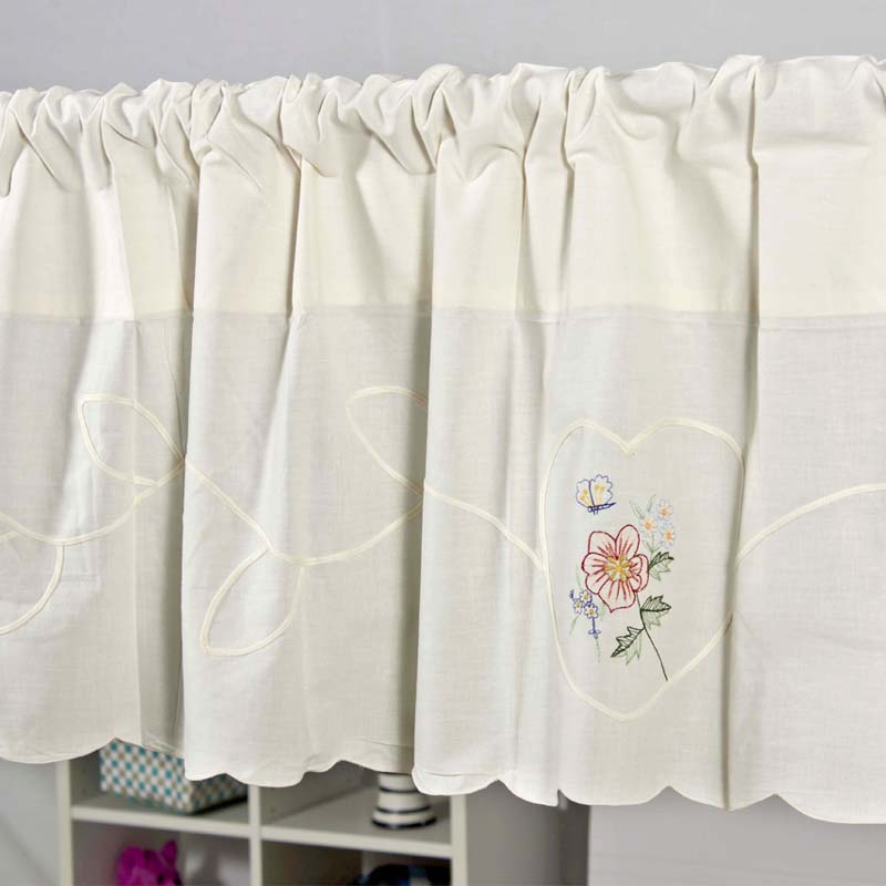 Country Style Cotton Embroidery Coffee Curtain Kitchen Short Curtain  Semi Shade Small Short Curtain Fashion Home Curtain Yarn