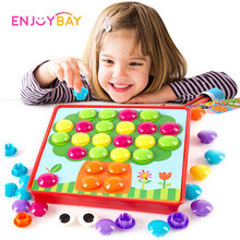 Enjoybay Gomba Rejtvények Játékok Kreatív Mozaik 3D Kép Kompozit Puzzle Nail Kit gyerekeknek Gomb Művészet Gyerek Oktatási Játék