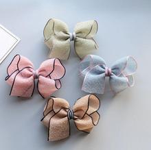 1.97 twist flower hair bow clip barrette 4pcs/lot girls children hairpin headwear 4 colors bowknot accessories