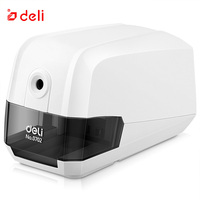 Deli Electric Sharpener Auto Pencil Sharpener Sacapuntas Office & School Supplies Plastic Material Automatic Sharpening Knives