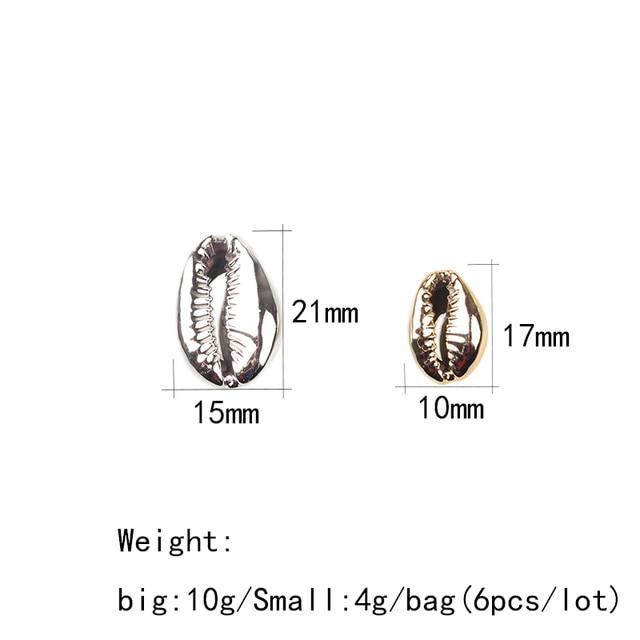 Натуральные ракушки cowrie соединяют шармы бусины 10 шт/лот