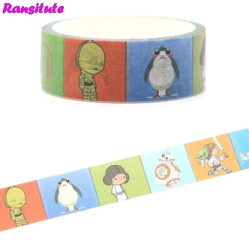 Ransitute R362 Cool Washi Tape School Supplies Paper Tape Manual DIY Decorative Book Paper Tape
