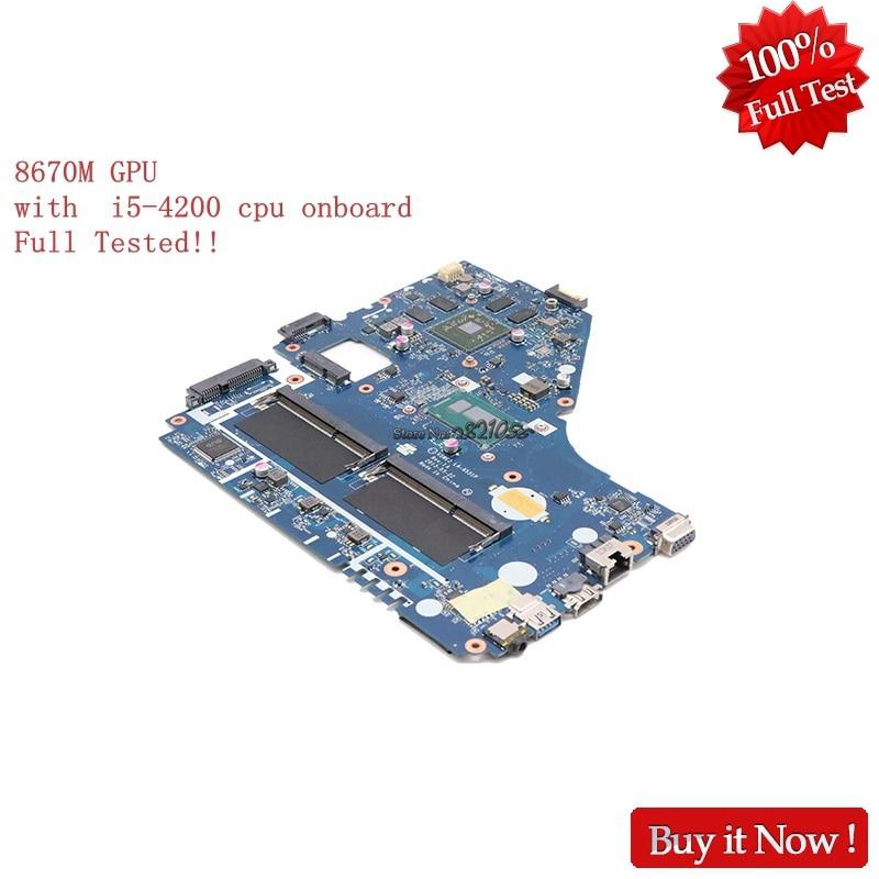 NOKOTION V5WE2 LA-9531P Per acer aspire E1-572G scheda madre del computer portatile REV 1A NBMFP11005 NB. MFP11.005 i5-4200U 8670 m GPU