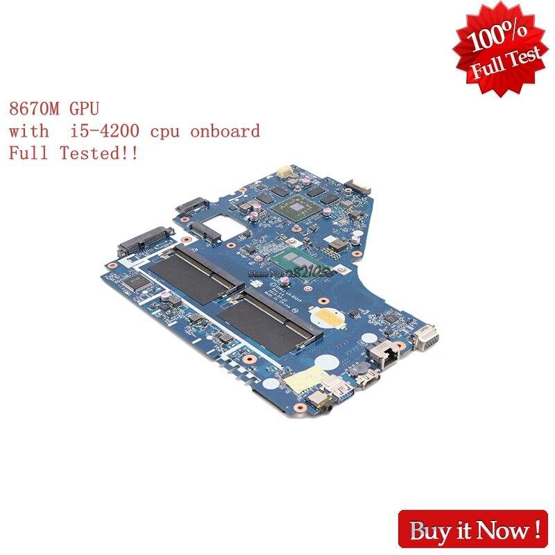 NOKOTION V5WE2 LA-9531P Pour acer aspire E1-572G mère d'ordinateur portable REV 1A NBMFP11005 NB. MFP11.005 i5-4200U 8670 m GPU