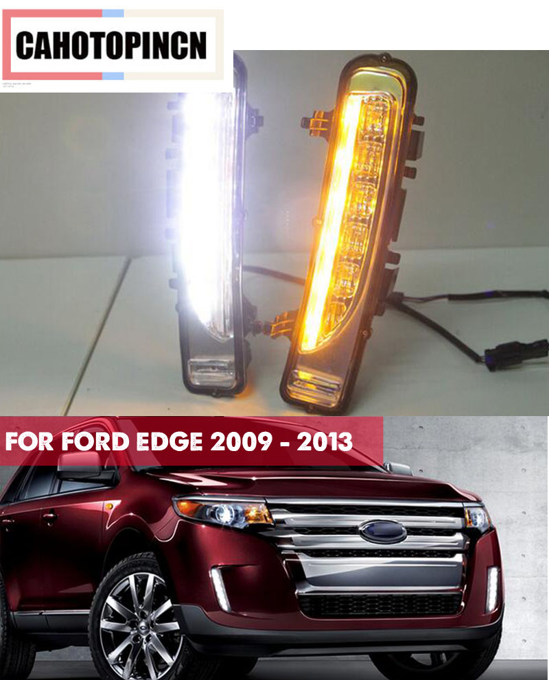 Turn Signal light function Waterproof 12V LED car DRL Daytime Running Lights accessories for FORD EDGE 2009 2010 2011 2012 2013-in Car Light Assembly from Automobiles & Motorcycles    1