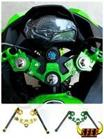Motorcycle CNC Aluminum Clip On Handle Bars For Kawasaki Ninja 250 Ninja 300 2013 2014 2015 2016