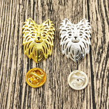 LPHZQH hot wholesale Long Hair Chihuahu Broches and pins Collar Pin Jewelery Clothing Accessories Men's Gift