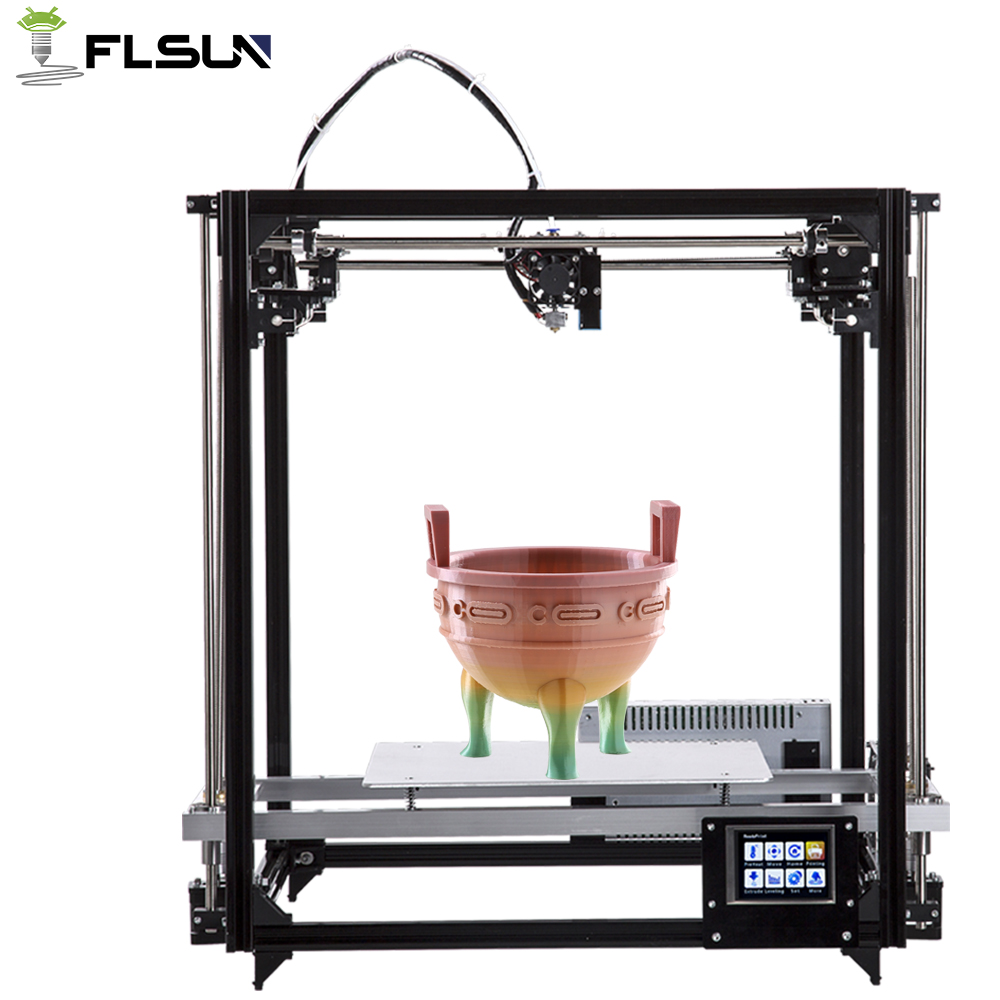 Flsun High Precision Metal Frame Cube 3D Printer Touch Screen Support Large Printing Area 260*260*350mm Auto-Leveling Fast Ship flsun delta kossel 3d printer pre assembled touch screen wifi module support large printing area 260 260 370mm