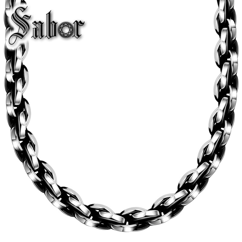 Geometric Chains Necklace,Punk Titanium For Men,Foreign Trade Popular Retro 316 Steel Rolo Necklace thomasGeometric Chains Necklace,Punk Titanium For Men,Foreign Trade Popular Retro 316 Steel Rolo Necklace thomas