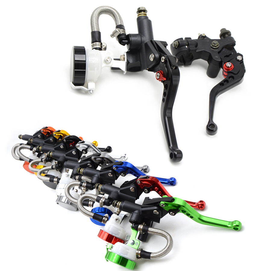 Universal Motorcycle Brake Clutch Pump Master Cylinder Lever Handle For KAWASAKI Ninja 1000 250R 250SL H2R 650R ZX14 ZX6R ZX6RR mb barbell atlet 35кг