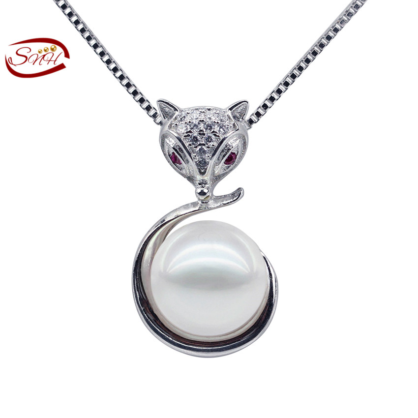 geniune freshwater pendants and necklace white 925 necklaces pendants fox accessories for women Pendant