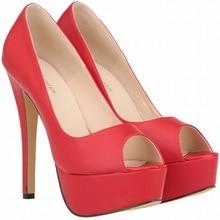 Size 34-42 Mature Women Pumps New Arrivals Thin High Heels Party Wedding Shoes Sexy Platform Pumps