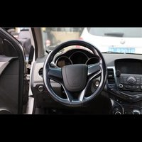 For Chevrolet Cruze 2009 2015 2PCS ABS Car Interior Steering Wheel Cover Trims Stickers Accessories Car Styling Moldings