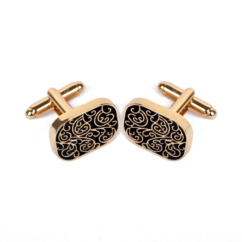 Botão de punho do vintage para a jóia dos homens camisa abotoaduras marca botões de punho cor do ouro manguito ligação alta qualidade padrão jóias de casamento