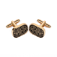Vintage Cufflink For Men Jewelry Shirt Cufflinks Brand Cuff Buttons Gold Color C