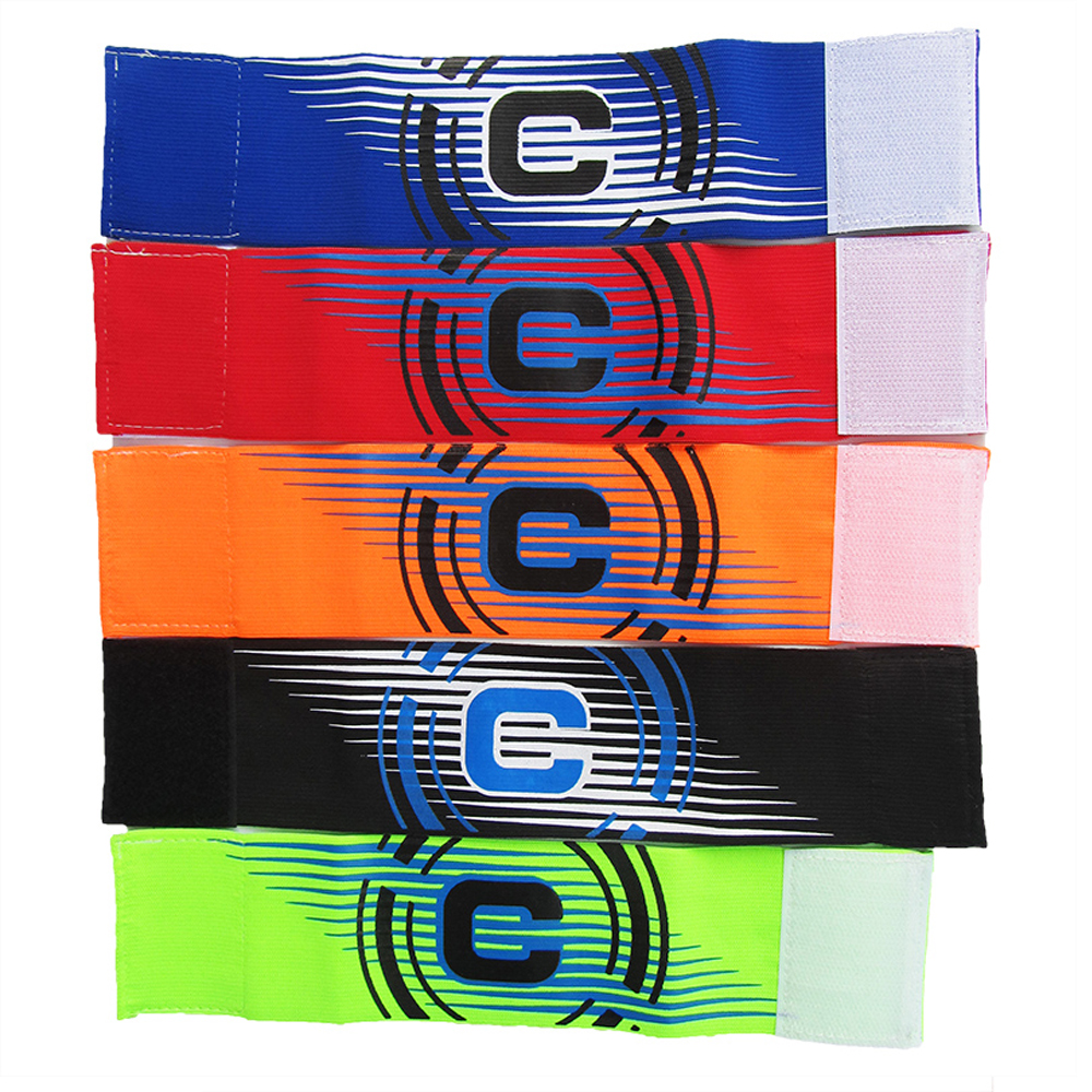 2018 High Quality Games Morocco Professional Football Armband Captain Adjustable Soccer Sports Competition Armbands Jerseys