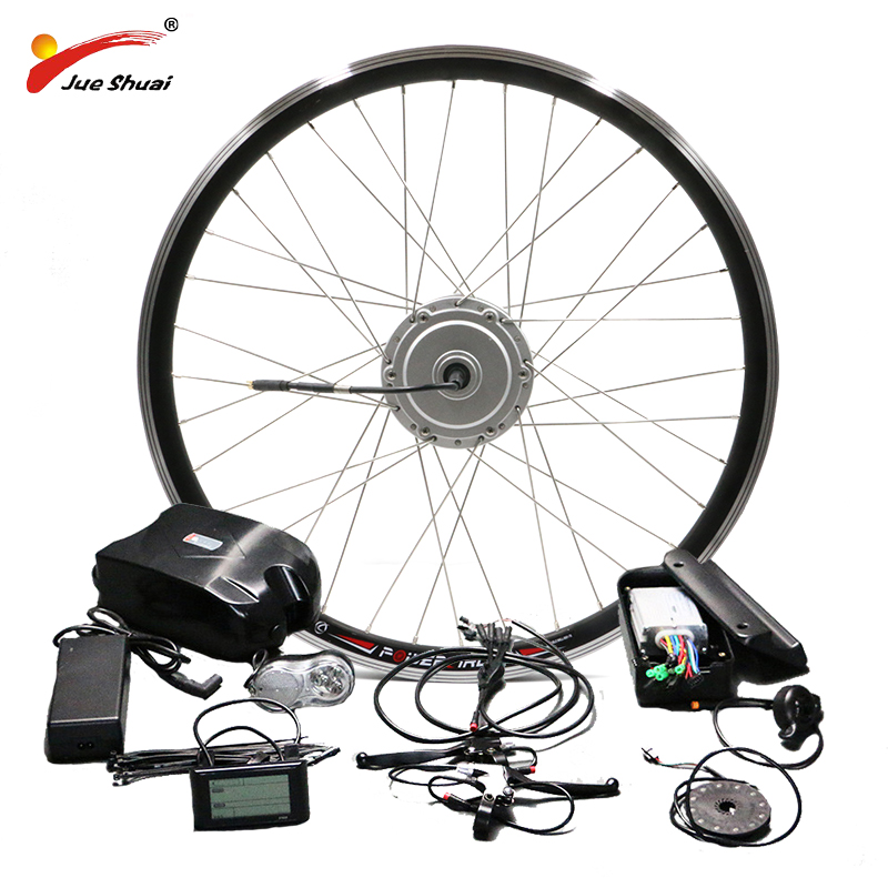 BAFANG 36V 48V Electric Bike Kit 26inch 700C Front Motor Wheel 250W 350W 500W BMP Hub 10AH Battery E-bike