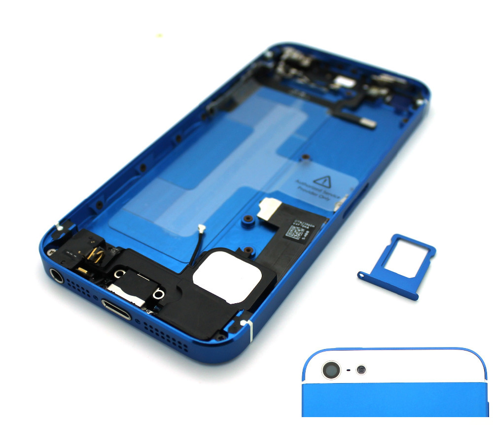 New Tested for iPhone 5 DARK BLUE Alloy Metal Back Cover Battery Door Housing Assembly Middle