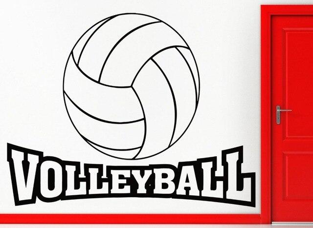 Kata Permainan Bola Voli Olahraga Stiker Dinding Dekorasi Rumah Ruang