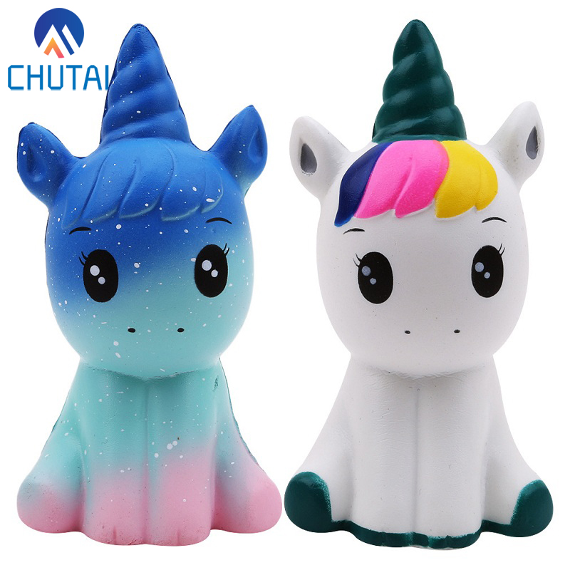Jumbo Kawaii Colorful Galaxy Unicorn Squishy Doll Slow Rising Stress Relief Squeeze Toys title=